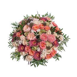 Букет из Садовой Пионовидной розы, Розы, Герберы, Астры, Хризантемы Кустовой