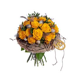 Пасхальный Букет из Желтых Роз
