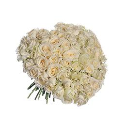 Букет из 101 Белой Розы в виде Сердца