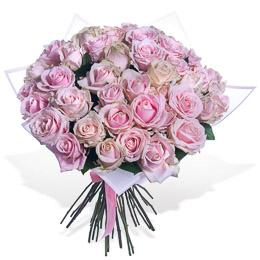Букет из 51 Нежно-Розовой Розы в Упаковке Москва