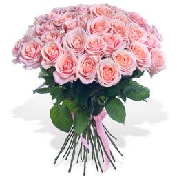 Букет из 51 Персиковой Розы Москва