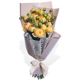 Букет из 11 Желтых Пионовидных Роз Москва
