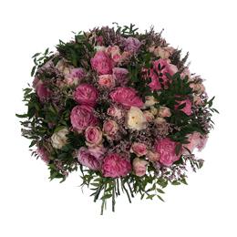 Букет из садовых и кустовых роз