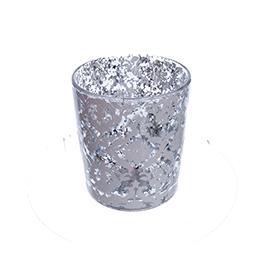 Подсвечник из стекла, с эффектом Mercury Glass