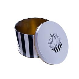"""Шляпная Коробка-Банка """"Кекс"""" из олова, большая"""
