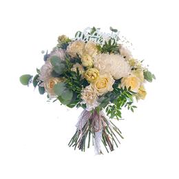 Букет маме из розы и хризантемы