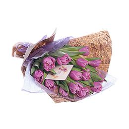 Букет из сиреневых тюльпанов