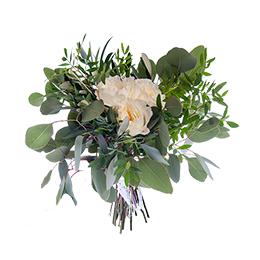 Букет Невесты из Пионовидной розы и Эвкалипта