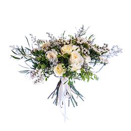 Букет Органик из Розы, Эвкалипта, Пионовидной Розы и Гвоздики