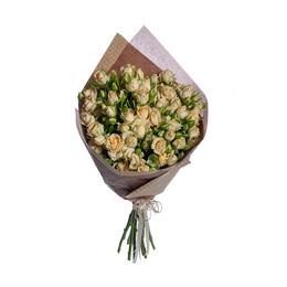 Букет из кремовой кустовой розы