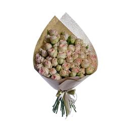 Букет из кремовой пионовидной кустовой розы