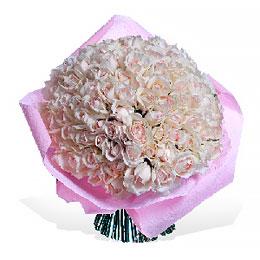 Букет из 101 Ароматной Розы Крем Пьяже, Упаковка