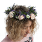 Венок на голову из Кустовых Роз, Лаванды, Лимониума, Эвкалипта