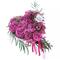 Сердце из Розовых Роз, Орхидеи Марсала и Эвкалипта ПЛАНЕТА ЦВЕТОВ
