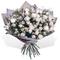 Букет из 39 кустовых Белых Роз в Упаковке Москва